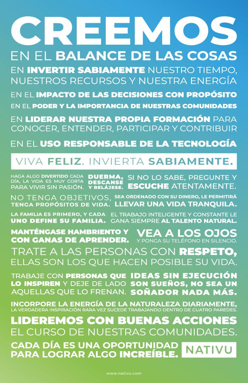 Manifesto NATIVU Costa Rica