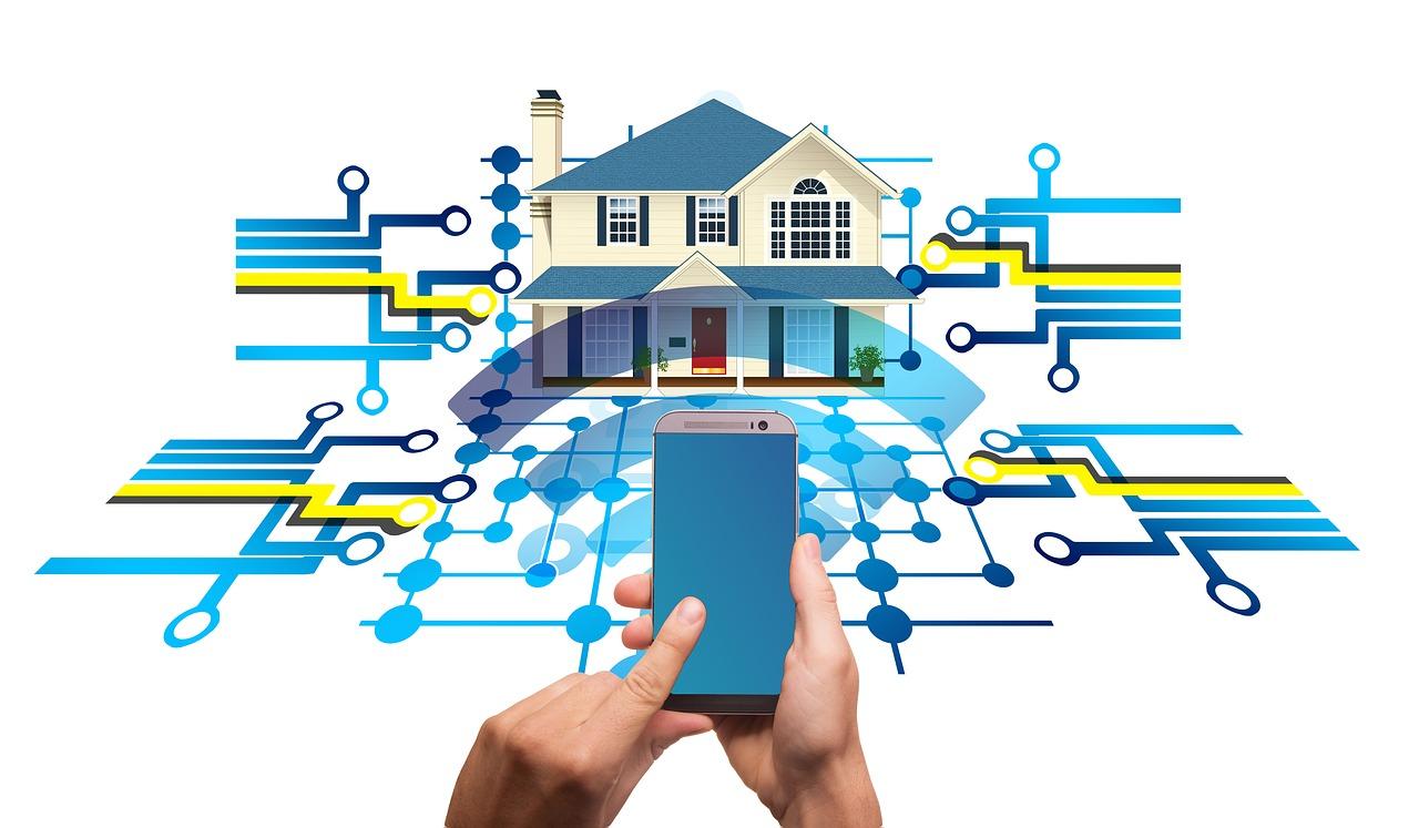 Ilustrar la conexión en una casa inteligene